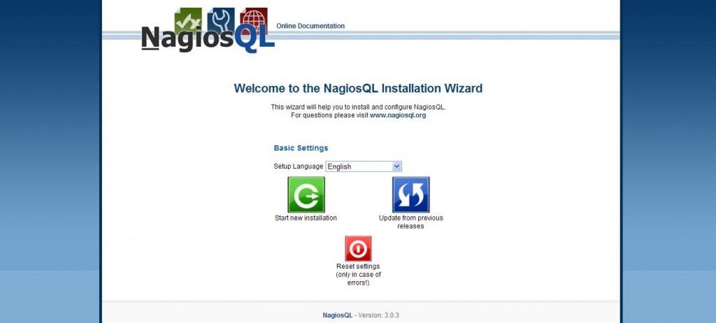 図1:NagiosQL3インストール画面1