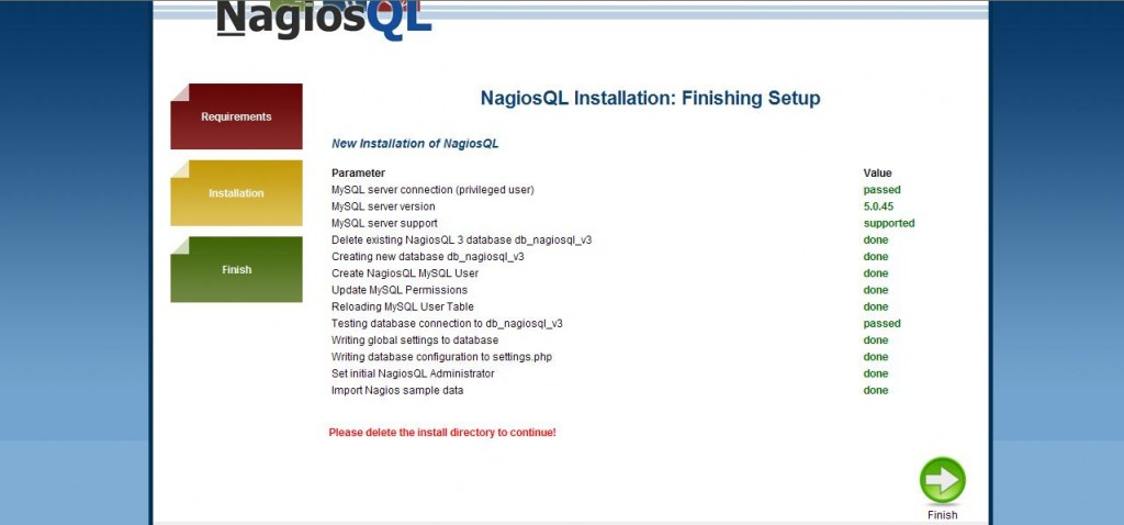 図4:NagiosQL3インストール画面4