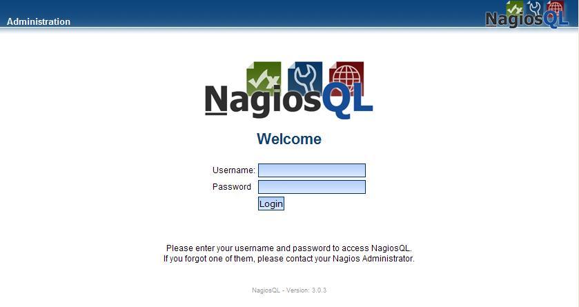 図5:NagiosQL3ログイン画面