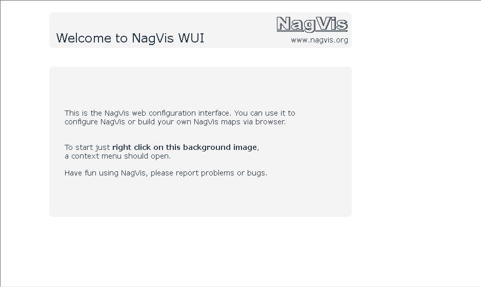 図1:NagVis管理画面(WUI)(1)
