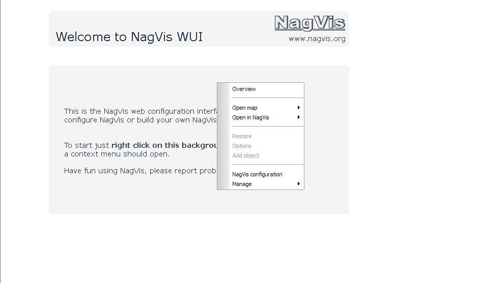 図2:NagVis管理画面(WUI)(2)