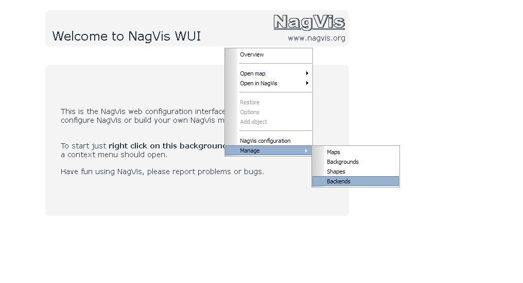 図7:NagVis管理画面(WUI)(3)