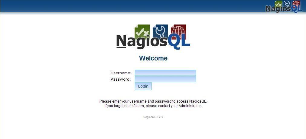 図6:NagiosQL(3.2.0)のログイン画面