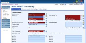 図2:SNMPサービス監視設定